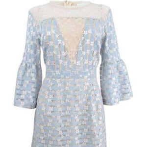 Foxie Dox Blue Lace Flower Dress
